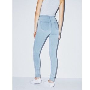 American Apparel Light Blue Skinny Easy Jeans